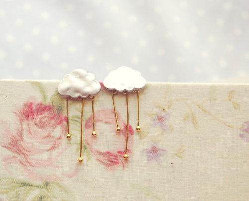 Cloud / Rain Earrings