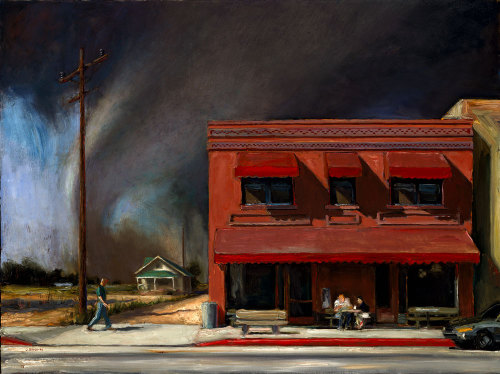 John Brosio: Edge of Town, 36 x 48, 1998