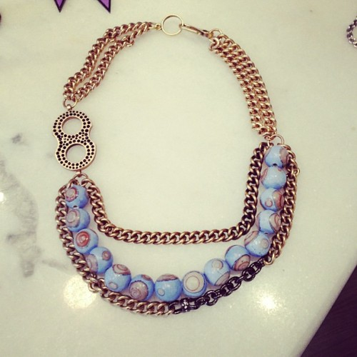 elle:  Metal + wooden beads from @paigenovick (Taken with Instagram)