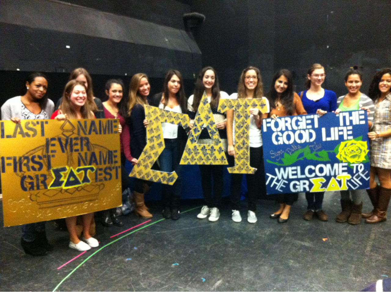 Welcome to the grEAT life! Beta Beta Fall 2012 class!