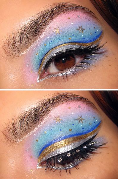 Check out Maryam M.'s White Nights of St. Petersburg inspired eye look!