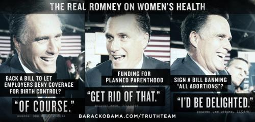 barackobama:  10 things you should know about Mitt Romney's stance on women's rights.