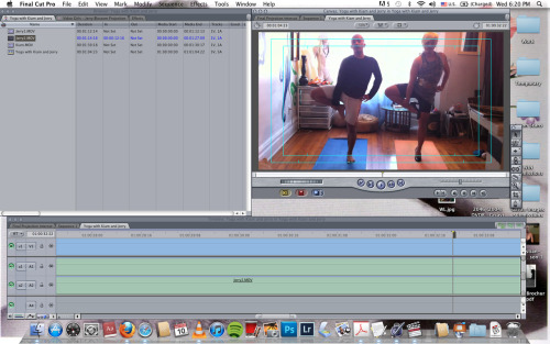 New video art in progress: Yoga with Kiam and Jerry Blossom