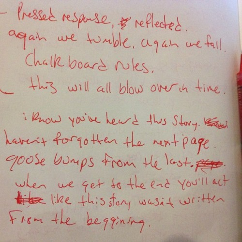 #pov #journal  (Taken with Instagram at Eternaldeathspiralofdoom)