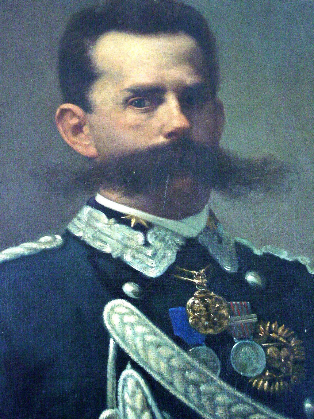 King Umberto I and his Mighty Mustache I posted this for the mustache however my readers may also be interested in this curious story about Umberto…  In Monza, Italy, King Umberto I, went to a small restaurant for dinner, accompanied by his aide-de-camp, General Emilio Ponzia- Vaglia. When the owner took King Umberto's order, the King noticed that he and the restaurant owner were virtual doubles, in face and in build. Both men began discussing the striking resemblances between each other and found many more similarities.a) Both men were born on the same day, of the same year, (March 14th, 1844).b) Both men had been born in the same town.c) Both men married a woman with same name, Margherita.d) The restauranteur opened his restaurant on the same day that King Umberto was crowned King of Italy.e) On the 29th July 1900, King Umberto was informed that the restauranteur had died that day in a mysterious shooting accident, and as he expressed his regret, he was then assassinated by an anarchist in the crowd. [Source]  Make of that what you will.