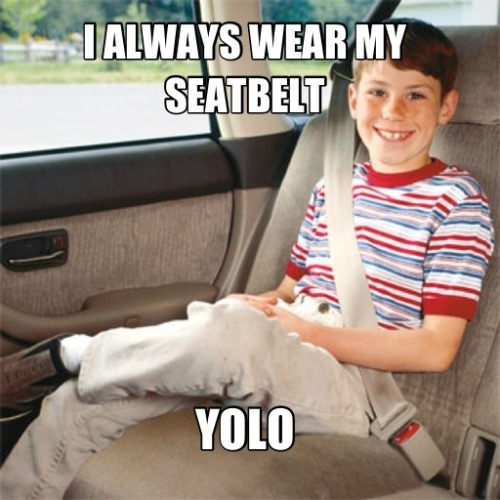 APPROPRIATE USES OF YOLO, I HAVE BEEN WAITING FOR THIS MY WHOLE LIFE