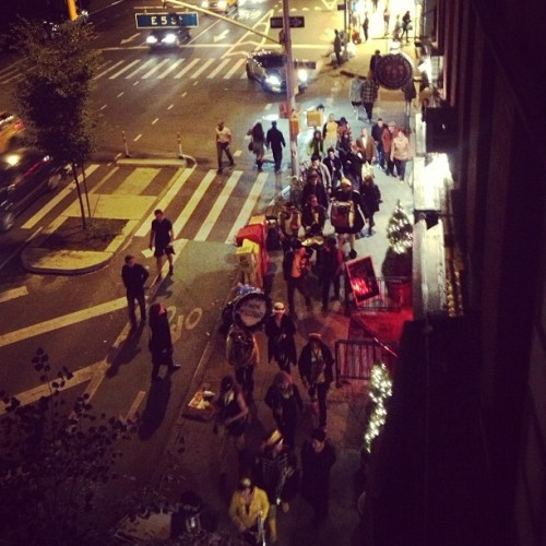 Awesome #marchingband going down #1stave. #eastvillage #nyc  (Taken with Instagram)