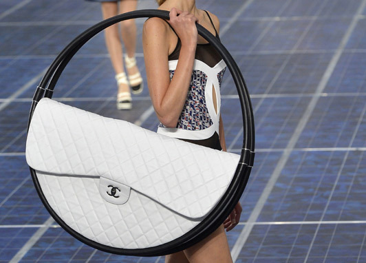 laughingsquid:  Chanel's Oversized Hula Hoop Bag