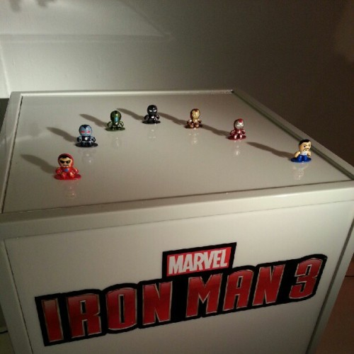 #IronMan3 Micro Muggs. SO. DAMN. CUTE. Available next year! (Taken with Instagram)