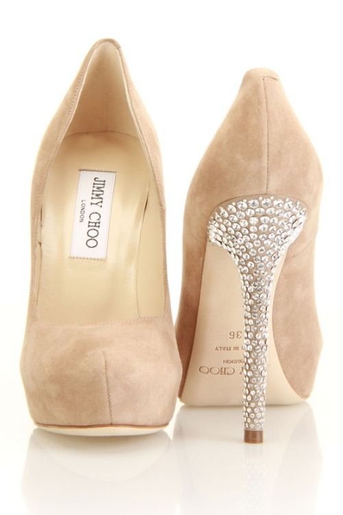 weddingishdotcom:  Nude Jimmy Choo's always go with everything!