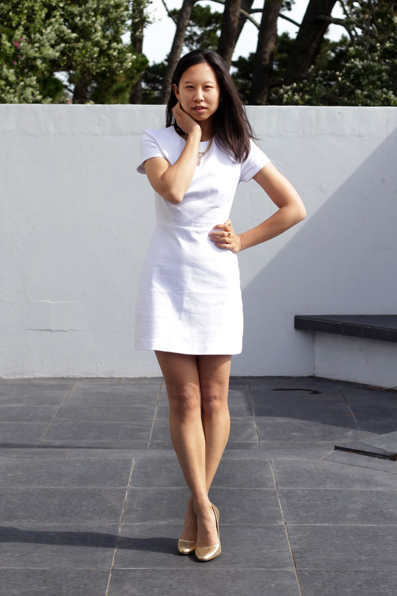 RUBY Chelsea Tunic in the most terrifying of all clothing colours: White.  Photo: James K Lowe.