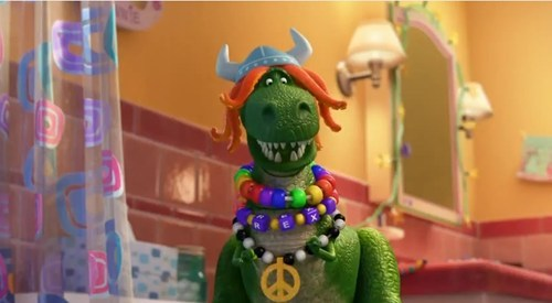 thedailywhat:  Pixar's Full 'Partysaurus Rex' Short of the Day: It played for audiences before Finding Nemo 3D, and it aired this week on the Disney channel, but now Pixar's Partysaurus Rex is online for your viewing pleasure. Sit back and enjoy — it's six minutes of pure, uncut Toy Story goodness. It's also a bathtub rave. [theawesomer]  This is awesome. Want. More.