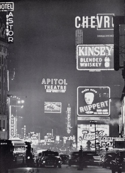 allaboutthepast:  Times Square at night, 1953