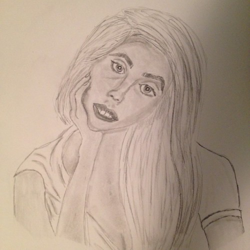 Can you feed my love? #artpage #ladygaga #art #sketch (Taken with Instagram)