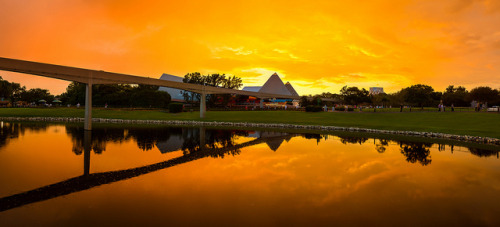 Epcot - Red Sunset at 30th by SpreadTheMagic on Flickr.