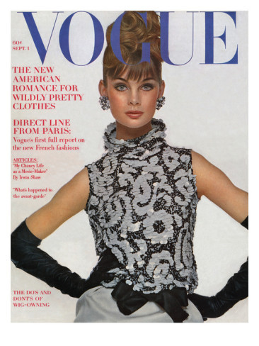 Vogue Cover of the Week: September 1, 1963 shot by Bert Stern featuring Jean Shrimpton