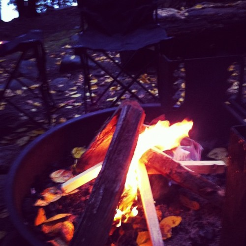 First fire #camplife  (Taken with Instagram)
