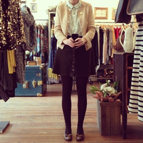 olivemylove:  What I'm wearing today #wiwt #fashion #ootd (Taken with Instagram)