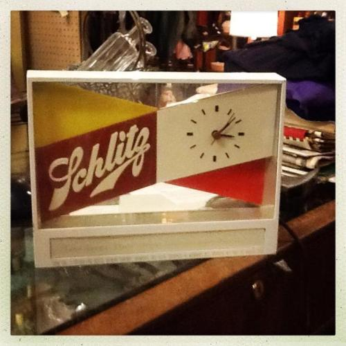 "Schlitz Clock ""Works"" $45.00"
