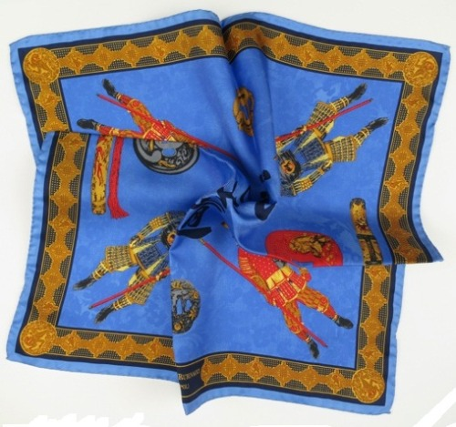 "Rubinacci Samurai pocket square. The best non-verbal way to say, ""Don't f*** with me"" during a business meeting."