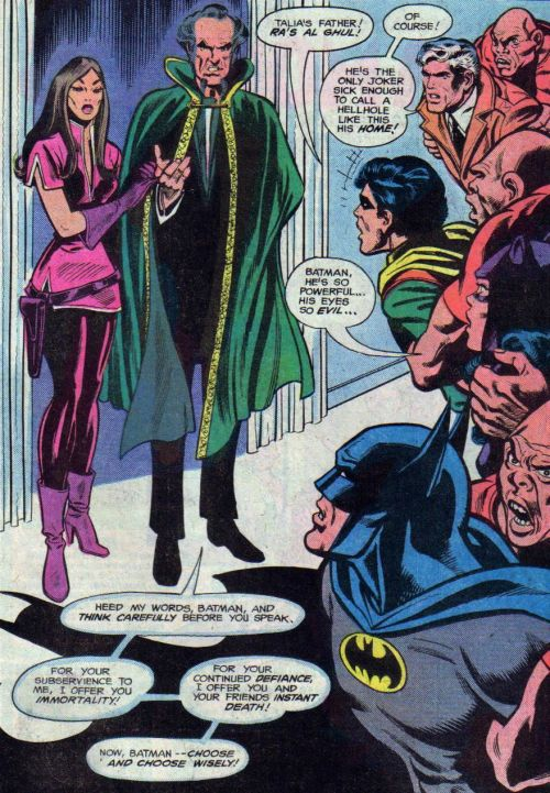 I know Talia's epic pink suit is distracting, but omg look at what Selina's saying.