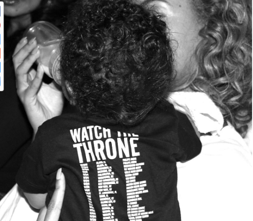 little baby blue ivy carter in a tiny jay-z tour shirt with queen momma b. please excuse me while i go die because this is the cutest thing of my life.