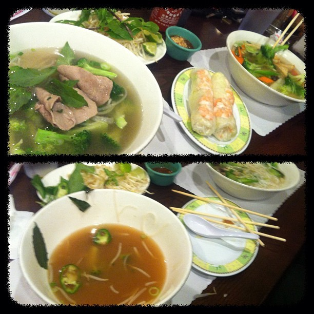 #thenandnow that ma phô didn't stand a chance  (Taken with Instagram)