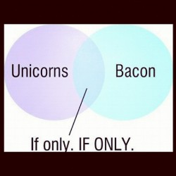 My thoughts exactly 💭 #unicorns #bacon #ifonly #perfect #favoritethings #funny #instagood #yes (Taken with Instagram)