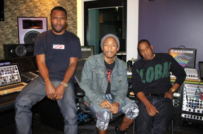 Jay-Z, Pharrell & Frank Ocean Hit the Studio   Via Pharrell's Twitter:Can't wait for y'all to hear what I'm working on with big bro @S_C_ and lil bro @frank_ocean.""