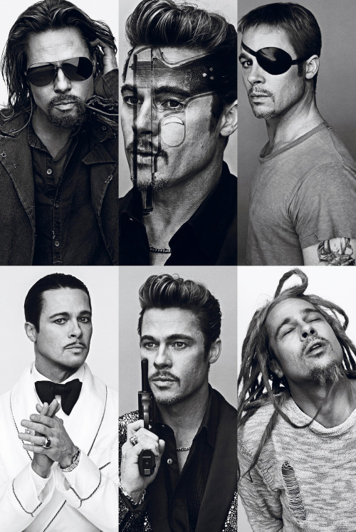 The Many Faces of Brad Pitt by Steven Klein.