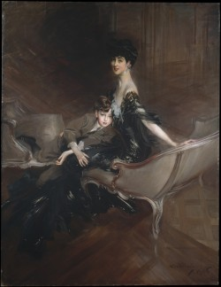 blaaargh:  Giovanni Boldini, Consuelo Vanderbilt (1876–1964), Duchess of Marlborough, and Her Son, Lord Ivor Spencer-Churchill (1898–1956), 1909