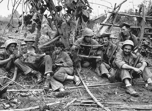 GIs taking a break in Burma, August 1944