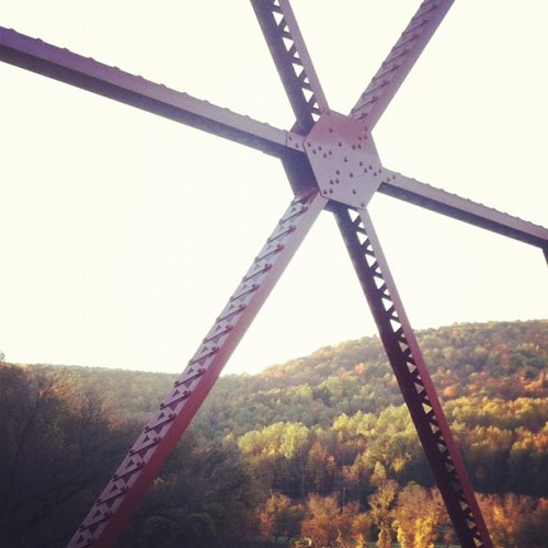 View from the bridge #VT #Foliage (Taken with Instagram)