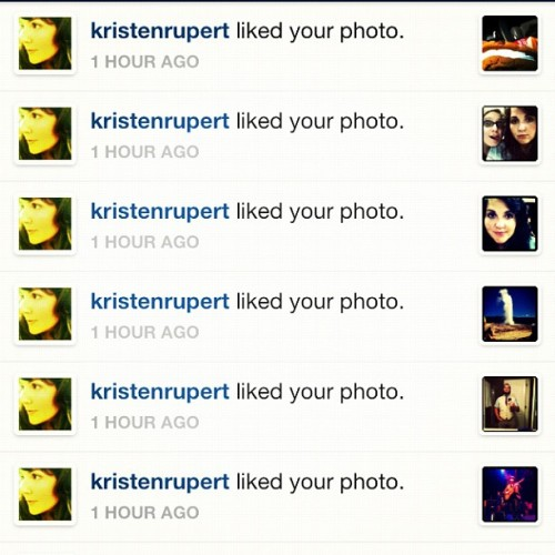@kristenrupert must be in a nostalgic mood… Liking all my old photos… (Taken with Instagram)