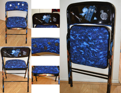 whocrafts:  Doctor Who themed chair that I made for my sons dorm room. (submitted by portraitsbypriscilla)
