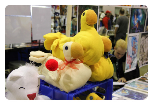 Chocobo plushies (handcrafted).