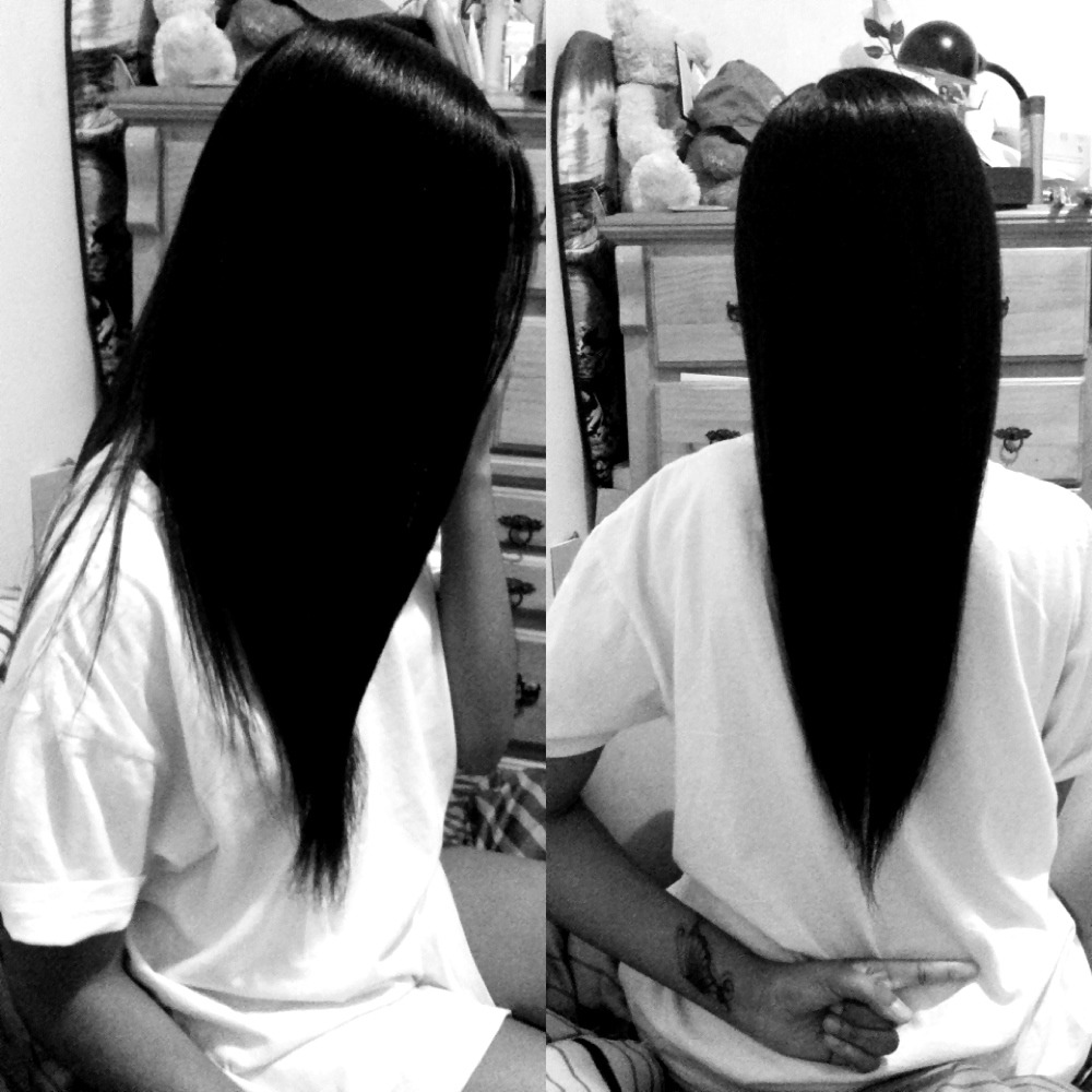 Back to straight. Waiting for my hair to grow to the same length equally.