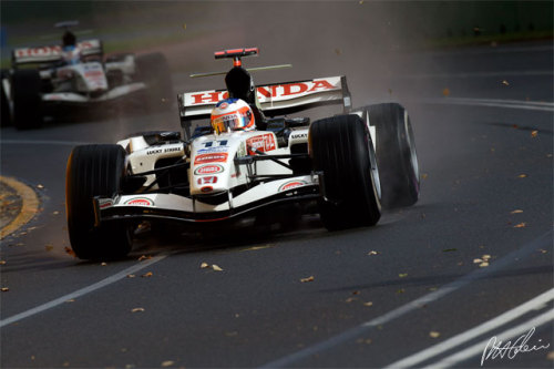 Jenson follows Honda team mate Rubens Barrichello, 2006 Australian Grand Prix.