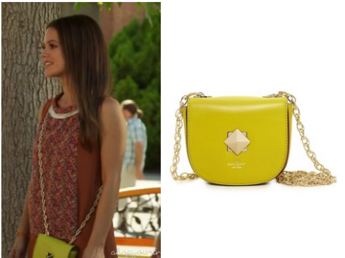 This is the small yellow cross body bag that Zoe Hart wears in this week's episode of Hart of Dixie.You can buy her bag HERE in a range of colors.