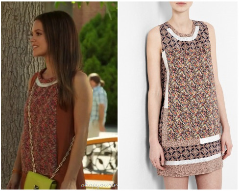 This is the cute sleeveless scarf printed dress that Zoe Hart (Rachel Bilson) wore in this week's episode of Hart of Dixie.Her dress is Vanessa Bruno, you can check it out HERE