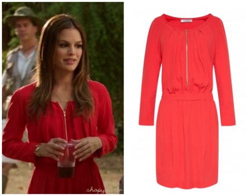 This is the cute hot pink/red zip front dress that Zoe Hart (Rachel Bilson) wore in this week's episode of Hart of Dixie.     You can buy it HERE for $199.50