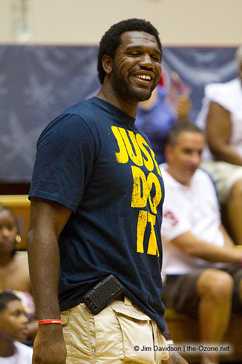 Greg Oden sighting at the Battle For Ohio celebrity charity game this past July