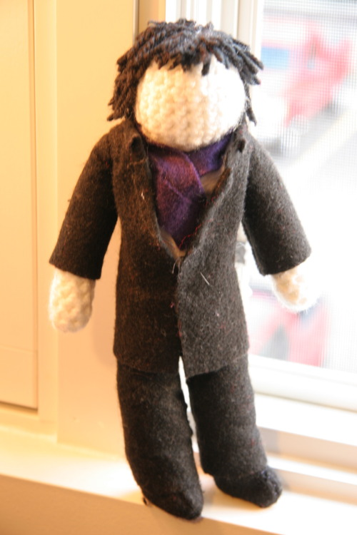 Hey sherlockians, I made this little guy a while back and decided that its time he had a new home. He will be for sale on my etsy shop soon for $15.00 USD plus shipping, but if anyone on here would like first dibs, please send me an ask and we can arrange something.