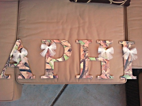my new letters i made <3 <3 <3