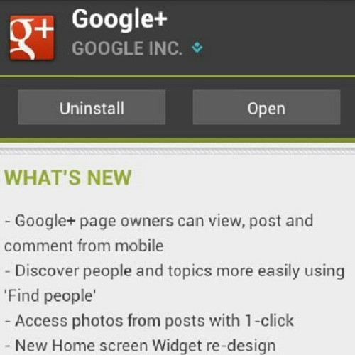 Google+ for #Android now allows for page owner posting! #app #socialnetwork (Taken with Instagram)