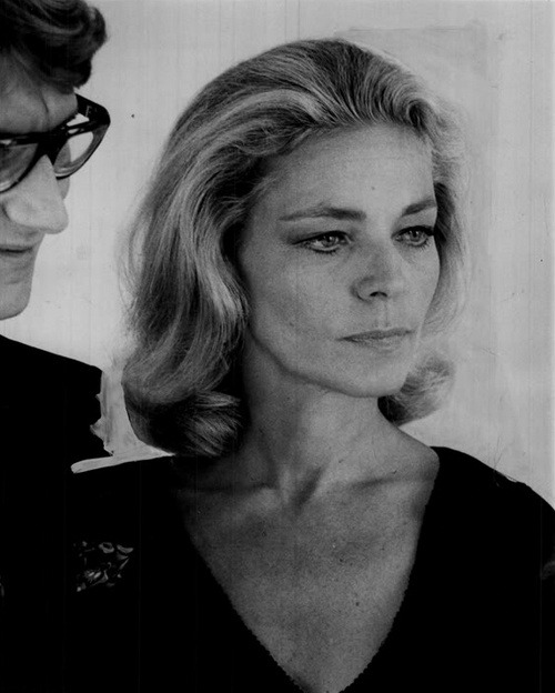 wehadfacesthen:  Lauren Bacall, 1968, with Yves St Laurent