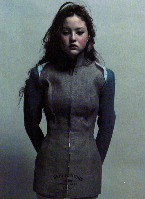 "american-idolatry:  The Face October 1997, ""Turn the Dark On"", Devon Aoki by Mario Sorrenti"