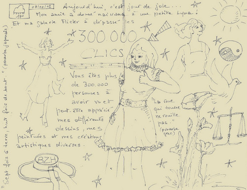 "SKETCHBOOK ""300.000 affichages sur ma galerie !"" © by Framboisine Berry on Flickr."