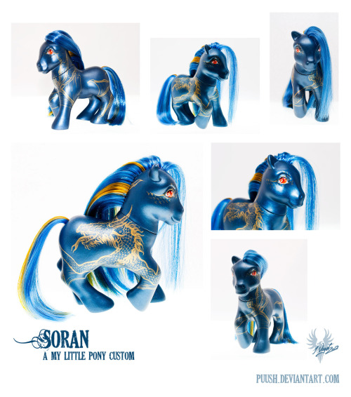 Soran the Dragon by ~puush I got received this guy in the mail a couple days ago, and he is so much more handsome in real life than he is in these photos! Puuush is one of the customizers that I adore :)