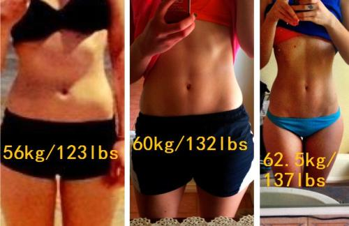"eatclean-getfit:  IS THE NUMBER ON THE SCALES GETTING YOU DOWN? Girls, girls, girls. I know we all have our own stories and we're all here for different reasons. But I see A LOT of girls desperately trying to see lower numbers on their scales. It looks to me like the main reason they're doing it (working out/eating healthy) is to see a low number on scales. The only thing thing keeping them going is the hope that one morning they'll stand on the scale and their ""ultimate goal weight"" will be staring them in the face. I believe, and yes this is my personal opinion, that what should be staring you in the face, is yourself in the mirror. Why not forget about the numbers for a while? Check your progress in the mirror, how your clothes fit, compare old photos with new photos, happiness, how well you sleep at night, how much energy you have, how strong you are mentally and physically, there are probably a million other reasons but these are the ones just came to mind now. Different weights look different on every single body. Just because your favourite celeb has a bangin' bod at a weight, doesn't mean it's going to look fantastic on you too. I hope my progress will inspire some of you and make you realise that you don't need to see incredibly low numbers. I rarely weigh myself. I only weigh myself when I see a big difference in my body in muscle definition. It turns out the better I look, the more weight I've gained. Don't let numbers define you. Please. I am genuinely concerned for some people that I see on here."